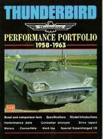 Ford Thunderbird Performance Road Test Book 1958 1959 1960 1961 1962 1963