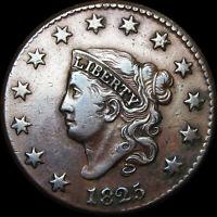 1825 Coronet Head Large Cent --- AMAZING --- #V063