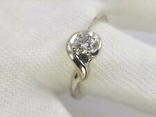 Engagement Ring 6 3/4 .40ct Bright Diamond 14k Gold