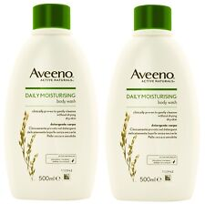 2 x Aveeno Daily Moisturising Body Wash 500ml for dry sensitive skin