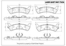 Disc Brake Pad Set-4 Door Rear Pronto LCD667