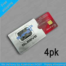 4pk RFID Blocking Safet Sleeve Credit Card Protector Anti Theft Scan Safe