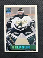 1999-00 PACIFIC PARAMOUNT ED BELFOUR HOLOGRAPHIC SILVER CREASE DAMAGE #ed 43/99