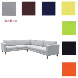 Custom Made Cover Fits IKEA Karlstad Corner Sofa 2+3 / 3+2, Sectional Sofa Cover