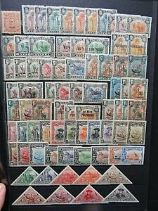 PORTUGUESE NYASSA - FINE MINT COLLECTION ON STOCKCARD - 1900/1924 -VERY HIGH CAT