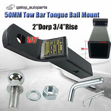 "2"" 50mm TOWBAR TONGUE TOW BAR BALL MOUNT 5/8"" HITCH PIN  5000LBS TRAILER 4WD"