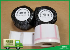12 Rolls Of 30915 Dymo Compatible Twin Turbo 450 Duo White Thermal Print Labels