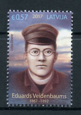 Latvia 2017 MNH Eduard Veidenbaums 1v Set Poets Poetry Literature Stamps