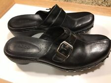 Woman Clogs Black Leather Mules Size 9 Black Leather Clogs Size 40 Shoes Comfort