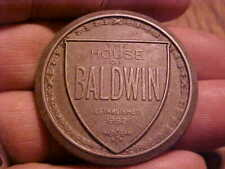 Old House of Baldwin 1862 Round Piano Metal Plate/Cabinet Medallion