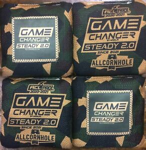 Brand New Game Changer Steady 2.0 Cornhole Bags Green Camo Design