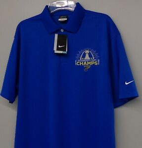 Nike Golf St. Louis Blues 2019 Stanley Cup  Champs Mens Polo XS-4XL, LT-4XLT New