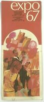 Expo 67 1967 Guide Pamphlet World's Fair Universal Exposition Montreal Canada