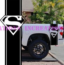 Superman Dodge Chevy Pickup Bed Stripes Truck Decals Stickers Set of 2 Racing