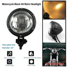 "4.5"" Motorcycle Black Headlight Clear Lens Bottom Mount For Harley Suzuki Yamaha"