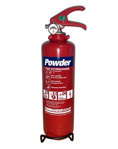 BULK BUY: 1 KG DRY POWDER FIRE EXTINGUISHER - COMMANDER, HOME/OFFICE/CAR/BOAT