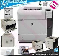 IMPRESORA HP LASERJET ENTERPRISE MONOCROMO M603N A4 60 PPM (DUPLEX NO INSTALADO)