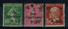 (a1) timbres France n° 253/255 oblitérés année 1929