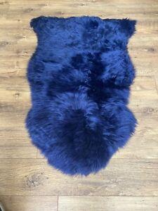 Midnight Blue Sheepskin Single Rug