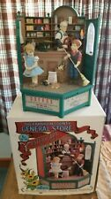 "RARE Enesco ""Franklin County General Store"" Multi-Action/Light Music Box MIB"
