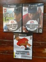 Tiger Woods PGA Tour 2003 04 06 Nintendo GameCube Video Game Lot SHIPS FREE