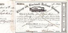 Chicago and Cincinnati RR Co. 1861 s/w