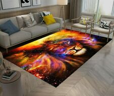 Lion In Cosmic Space Floor Carpet