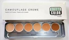 DERMA COLOR 6 in 1 Kryolan Camouflage Cream Foundation Palette (Bridal)