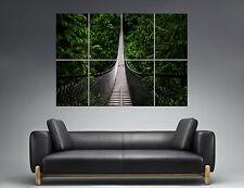 Pont forêt Bridge Forest  Landscape Nature Wall Art Poster A0 Large print