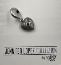 JLO By Endless Sterling Silver 925 Black Big Heart Silver Bead Charm 33350-1