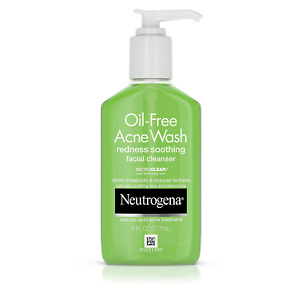 Neutrogena OilFree Acne and Redness Facial Cleanser Soothing Face Wash with Sali