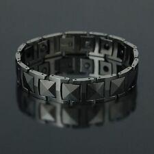 Steel Color Solid Tungsten Magnetic energy Stone MEN bracelet TS84  New Design