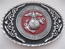 States Marine Corps - Pewter Belt Buckle #444 - United
