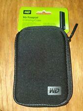 WD Neoprene Carrying Case My Passport Portable Drives Black Lightweight New!