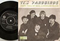 THE YARDBIRDS HEART FULL OF SOUL DANISH SWEDISH 45+PS 1965 MOD FREAKBEAT R&B