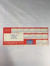 Northwestern Mutual Life Insurance Company Advertisement 1949 Paper Ink Blotter