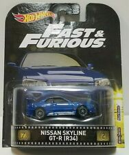 2016 Hot Wheels Fast & Furious Nissan Skyline GT-R (R34) Real Riders!