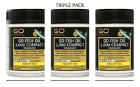 Go Healthy Go Fish Oil 2000mg Odourless 230s (3 pack) 690 capsules FREE SHIPPING