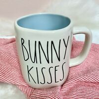 "NEW! RAE DUNN ""BUNNY KISSES"" LL With Blue Inside Easter Mug By Magenta 2021 HTF"