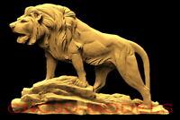 3D Model STL for CNC Router Engraver Carving Artcam Aspire Wolf Animal Hunt f514