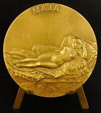 Médaille La Maja desnuda nue de Francisco de Goya sc Armando Viseu Medal