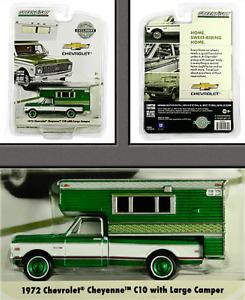 CHASE GREENLIGHT 1972 CHEVROLET C10 CHEYENNE & CAMPER HOBBY EXCLUSIVE 1/64 29921