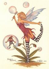 Postcard Amy Brown Gothic Fairy BUBBLE BLUNDER 2000 Art Print Collectable