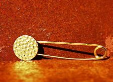 Victorian style pin with hammered circle  BROOCH