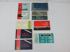 1956 62 64 68 Buick Owners Operator Guide Manual Protection Plan Warranty Lot #7