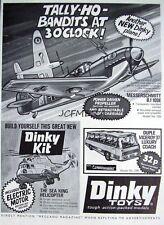 1972 Dinky Airplane Toys ADVERT 'Messerschmitt B.f 109E' - Vintage Print AD