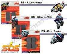 SBS Pastillas De Freno Delantero Doble de carbono Ducati 1199 Panigale S 12-13 841DC Race utiliza DC