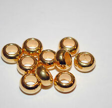 European style Gold spacer beads for charm bracelets wholesale -  lot of 10