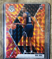 2020 Panini Mosaic Basketball Bol Bol Reactive Orange Prizm Rookie Card #222