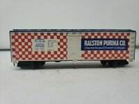 Ralston Purina Co MRS #4554 Reefer Train Car Tyco HO Scale. J04